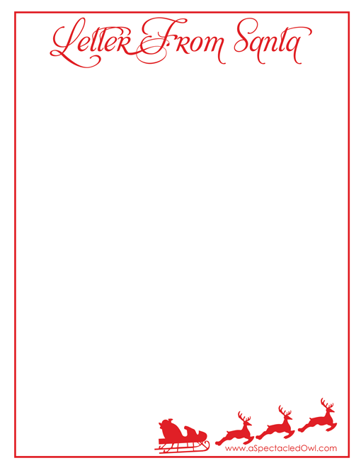 letters from santa templates to print for free letter from santa printable a spectacled owl 29106
