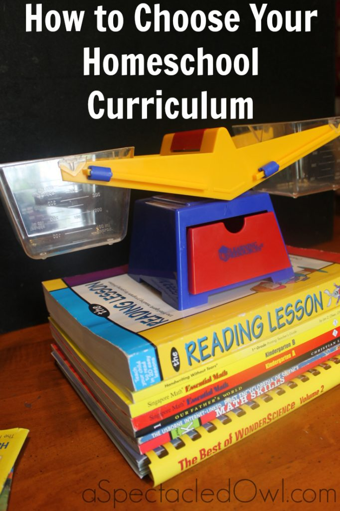 Choosing Your Homeschool Curriculum