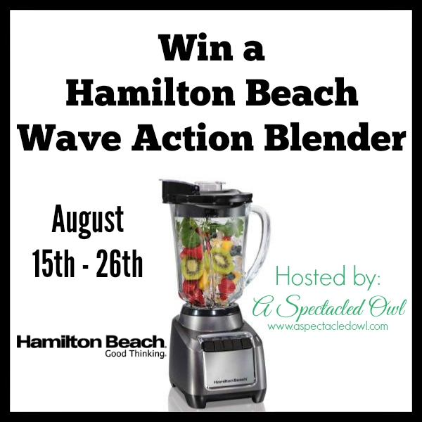 Hamilton Beach Wave Action Blender - Review & Giveaway