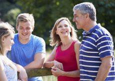 Family with teens building trust