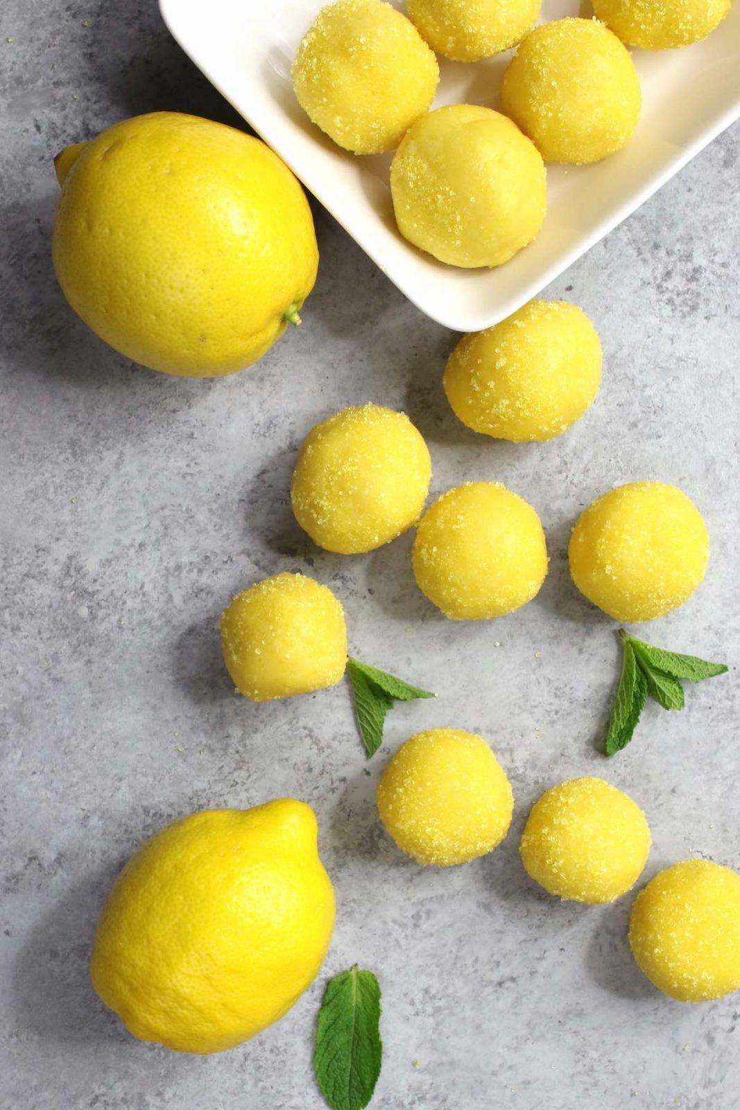 Homemade lemon truffles
